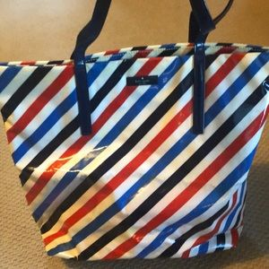Striped  beach/pool bag